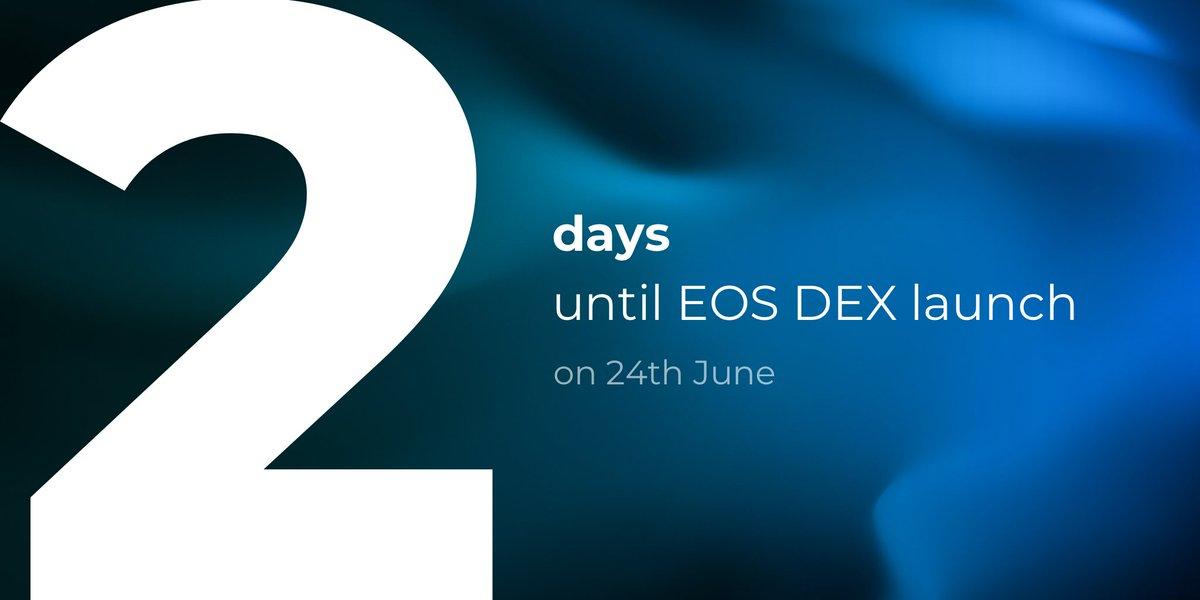 Trades are settled on the #blockchain in under a second on our #EOS #trustless exchange, which makes 2 days until http://token.store EOS' launch seem like a lifetime.  Thank EOS' average block time of 0.5 seconds for a swift, trustless trading experience 🕒