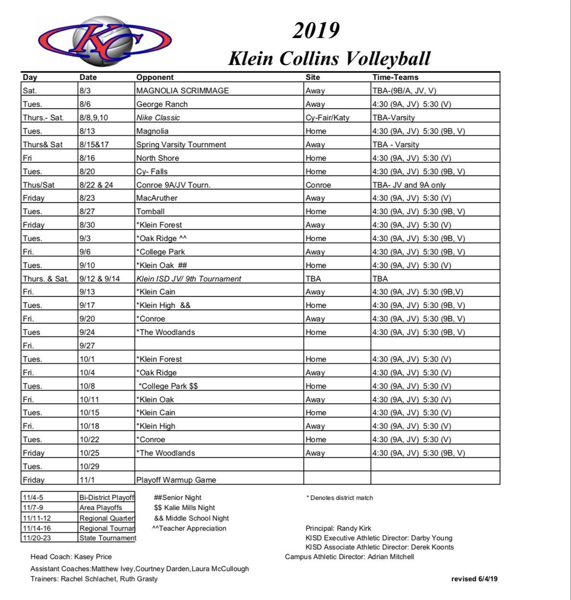 Here's our upcoming fall schedule!! We would love to see you there, thank you for all of your support.  #TigersTakeover #KCVB <br>http://pic.twitter.com/nJPdBdaTYb