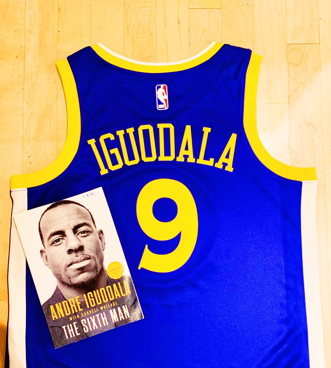 """3x @NBA Champion, @andre will be signing copies of his new book """"The Sixth Man"""" Tuesday, June 25th @NBASTORE NYC!  Fans can purchase (1) additional item to have signed."""