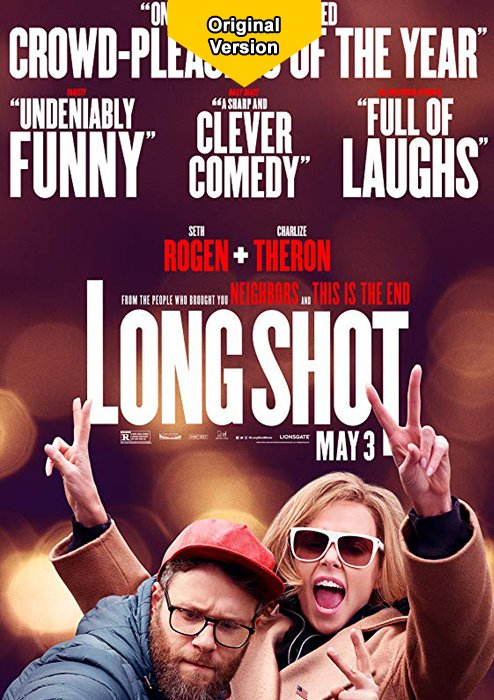 """We regularly present the best and latest Hollywood blockbusters as the original version. Every week Wednesday. Wednesday, June 26th at 8:00 pm with """"Long Shot"""" in the original version!  Tickets: http://bit.ly/2EvvEAF  #KinoIlmenau #Originalversion #CinemaOriginal"""