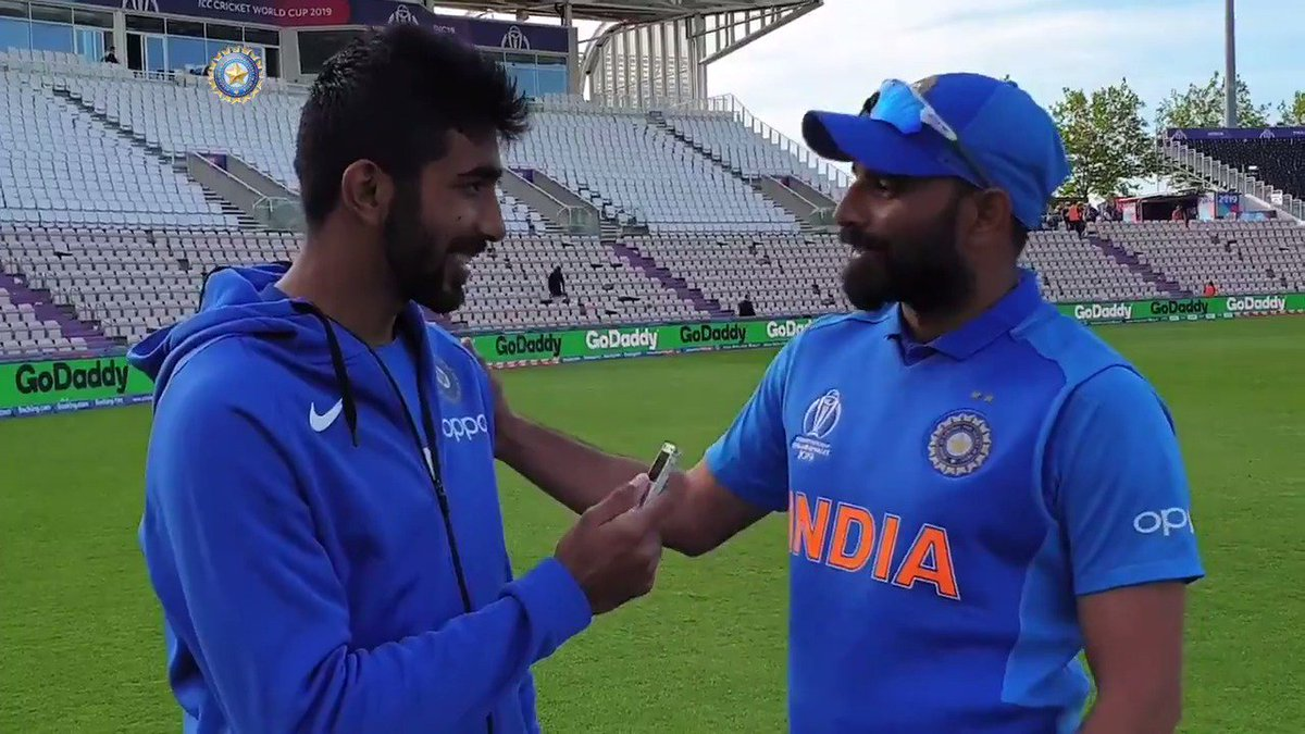PACE SPECIAL: @Jaspritbumrah93 & @MdShami11 discuss #TeamIndia's bowling heroics against Afghanistan & that very special Shami hat-trick 🔥🔥😎🇮🇳 - Interview by @RajalArora Full video link ▶️➡️▶️➡️https://bit.ly/2ICVkhj