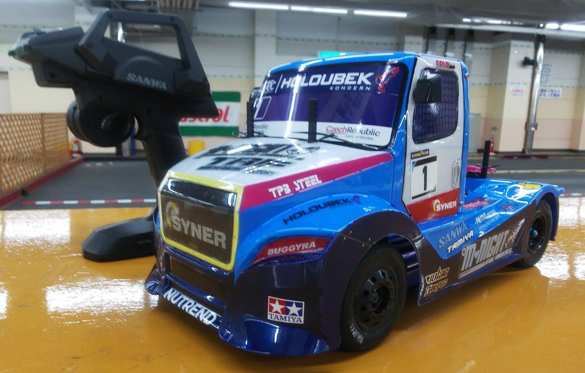 朝からボディ載せて初走行~♪ 楽しい!! °M💖Night #TT02RR #トラックレーシング