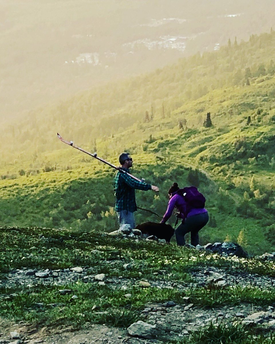 Some of brought beer & wine which is apparently amateur child's play as this pro brought the #shotski #shotshotshot #shotskionthemountain #alaskansolstice
