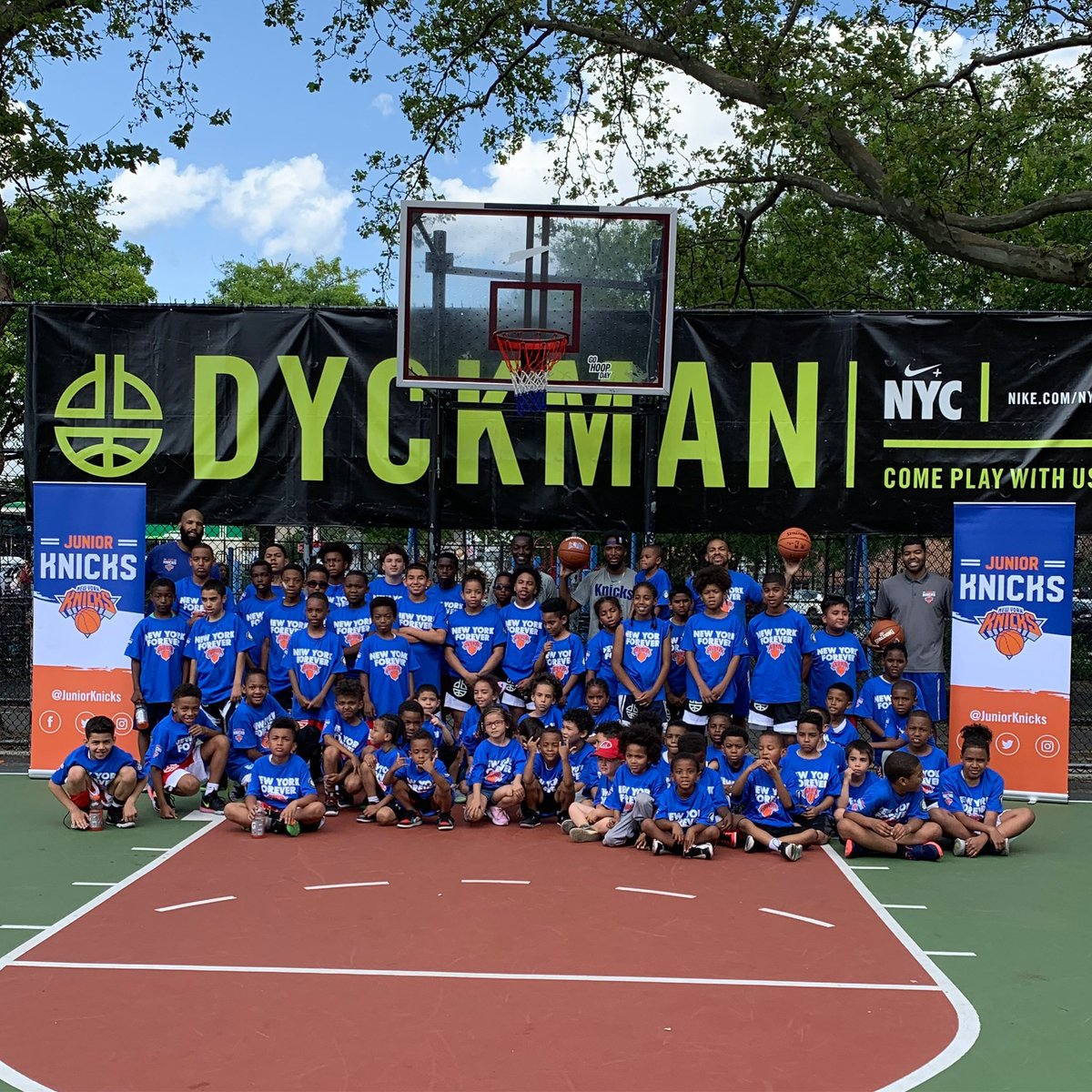 A Saturday well spent at @IamDyckman 💪🙌 #JrKnicks