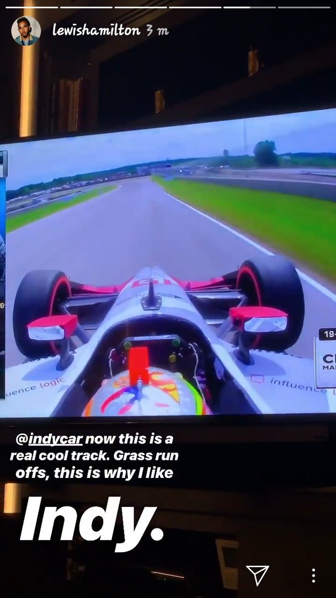 Lewis is watching indycar