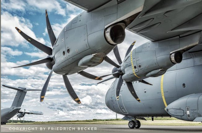 Another cracking 📸of Fritz Becker. #A400M of @Team_Luftwaffe at #saarbrücken airport. #LTG62 #Wunstorf #WeMakeItFly #Bundeswehr 💪🇩🇪@AirbusDefence @SafranEngines