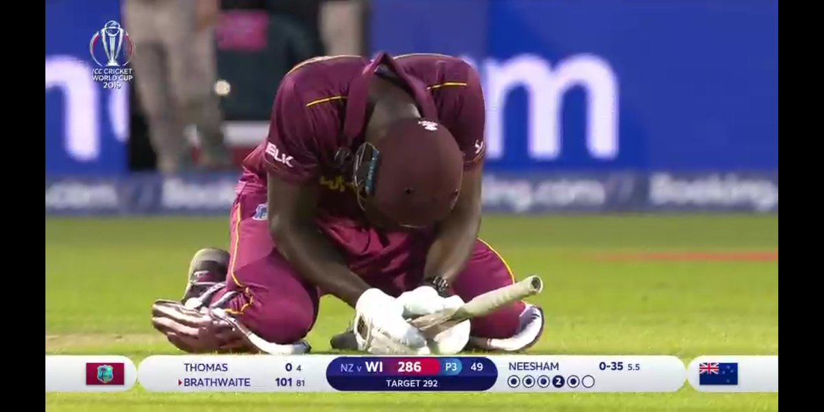 Match Of The World cup🔛🔝Carlos Brathwaite You Won Hearts Hero 💙#WIvNZ