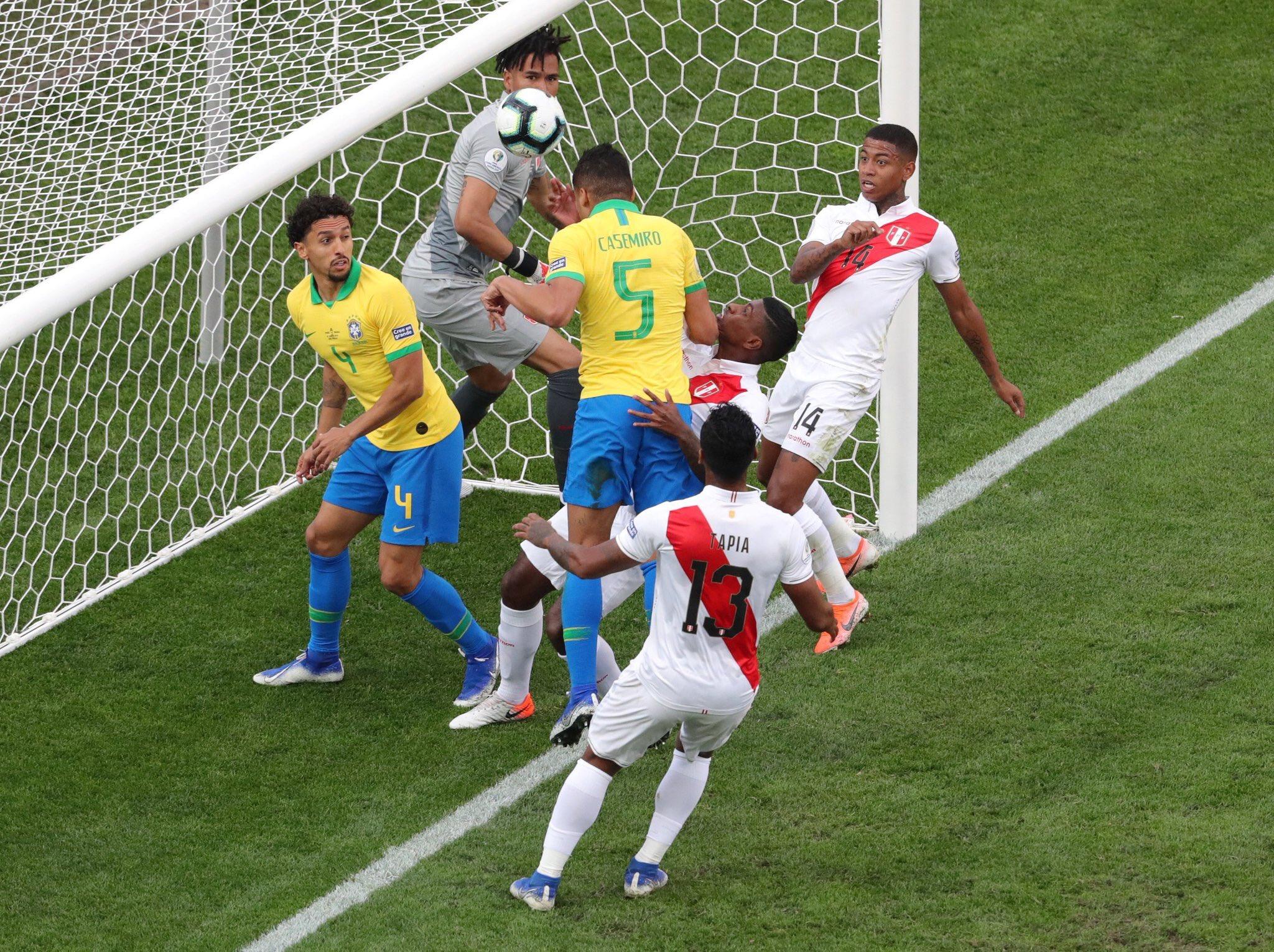 أهداف فوز البرازيل على بيرو - كوبا أمريكا