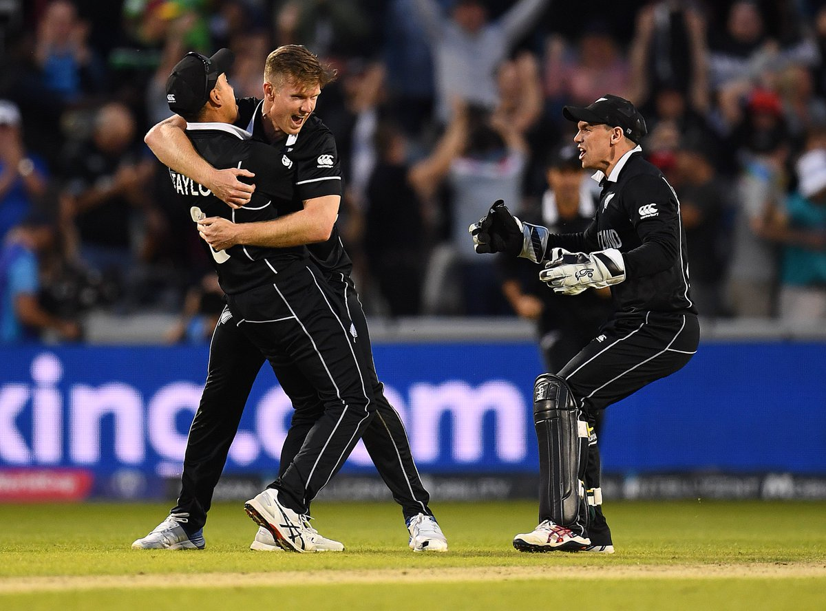 Trent Boult started the innings by bowling Shai Hope and ended it by dramatically catching Carlos Brathwaite on the boundary.Watch all the @BLACKCAPS wickets! 👇#BACKTHEBLACKCAPS | #CWC19