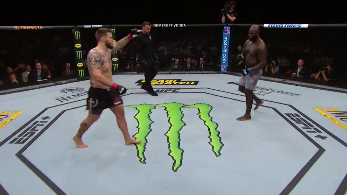 Here's the full fight.   :09 seconds. #UFCGreenville