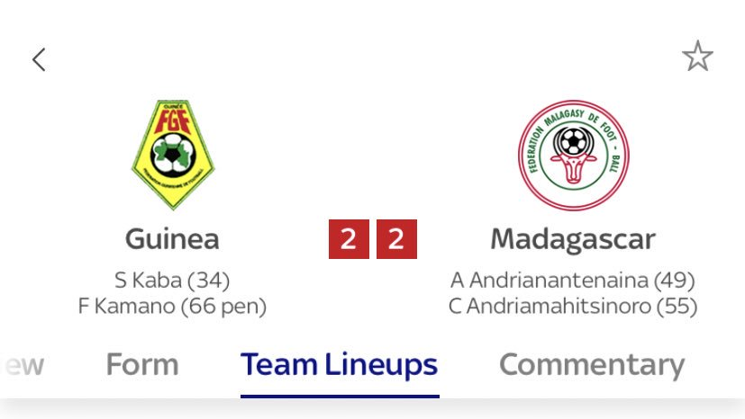 I didn't think Madagascar had any big name players.   Turns out I was wrong. https://t.co/VOJGijErRx