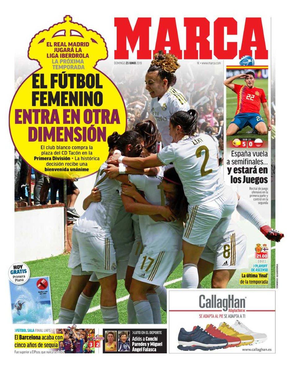#LaPortada El fútbol femenino entra en otra dimensión 🗞️