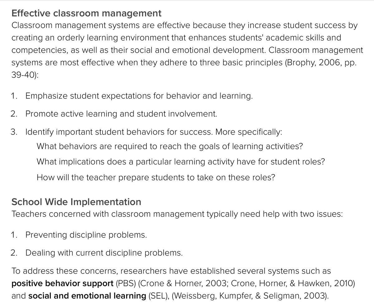 #EDUC5240 #ClassroomManagement @UoPeople @iborganization #IB #MEd #Readings apa.org/education/k12/…