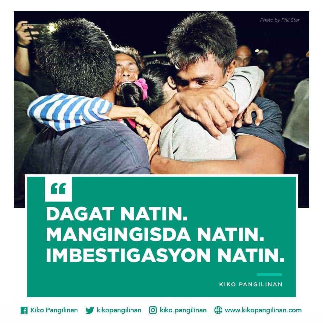 We are disheartened by the lack of haste in the side of our government to investigate the matter of the sinking of the fishing vessel in Recto Bank.