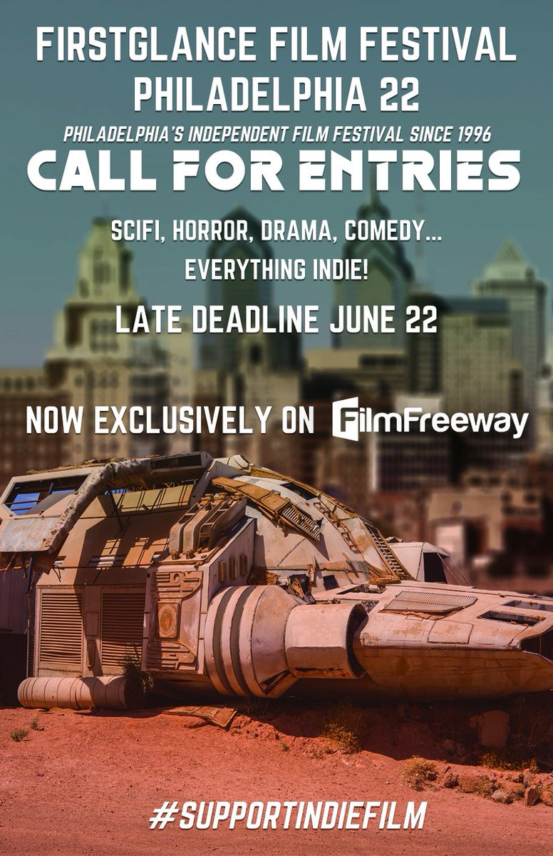 Less than 6 hrs to Submit before the LATE Deadline! All #scifi and #horror submissions are considered for licensing with our streaming partner! 22nd Annual @FirstGlanceFilm #Philly 22 bit.ly/FGFFCFE #SupportIndieFilm #FilmTwitter
