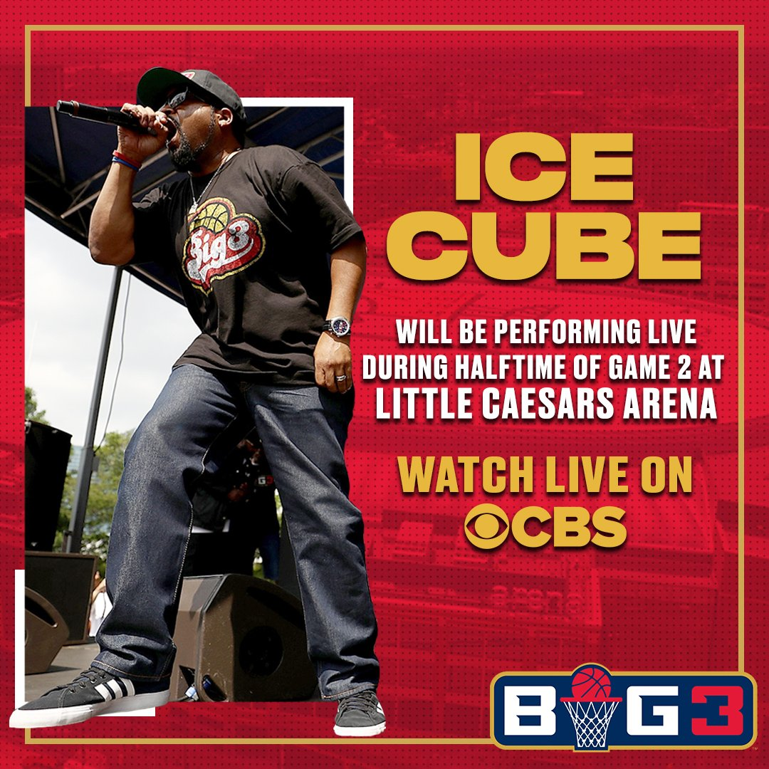 Catch @icecube performing LIVE on CBS. Tune in now! #BIG3onCBS