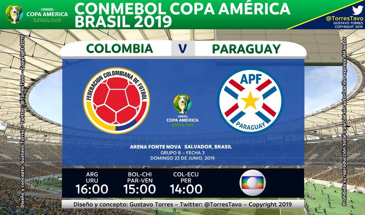 Colombia - ParaguayTV: @TVGloboInter (Canal 776 de Directv)#CopaNaGlobo#FutebolNaGlobo