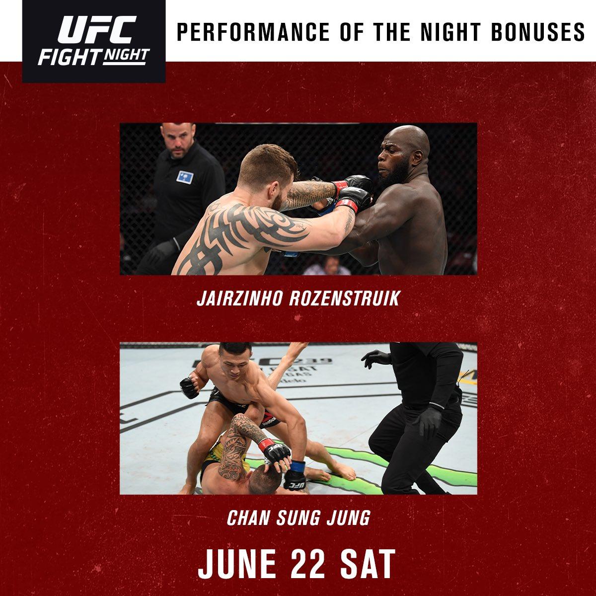 💰 POTN: @JairRozenstruik & @KoreanZombieMMA || 50k #UFCGreenville
