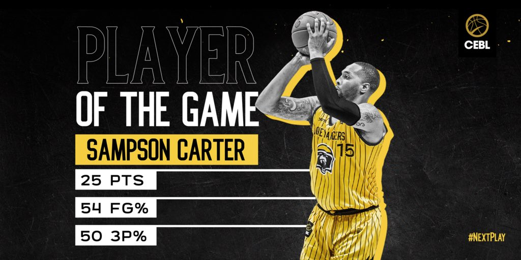 Buckets on buckets for Sampson Carter  #NextPlay <br>http://pic.twitter.com/39ybTpd1p3