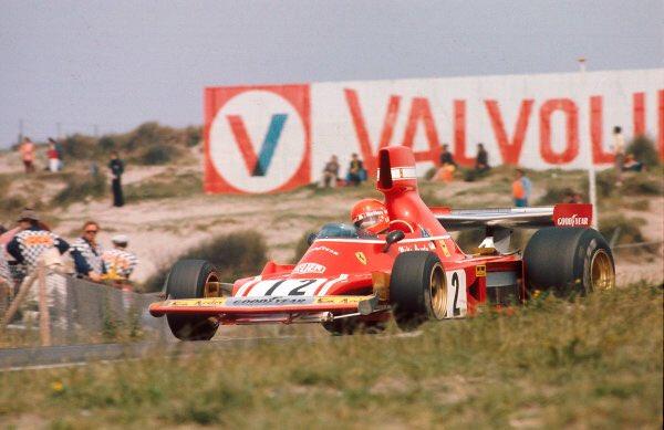 #OnThisDay 45 years ago Niki Lauda won at Zandvoort in this beautiful Ferrari 312B3, sand dunes easily visible behind; 2nd was his Ferrari team-mate Clay Regazzoni. #RIP x 2.