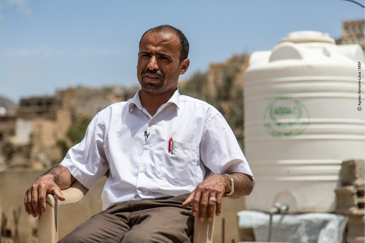 "Sherif's family was displaced from Sahar Al Sham to Saada city because of fighting. Sherif used to volunteer as an English teacher. ""With the war, life has become difficult and prices have been skyrocketing for the past few years."" #Yemen #UntoldStories #YemenCrisis"