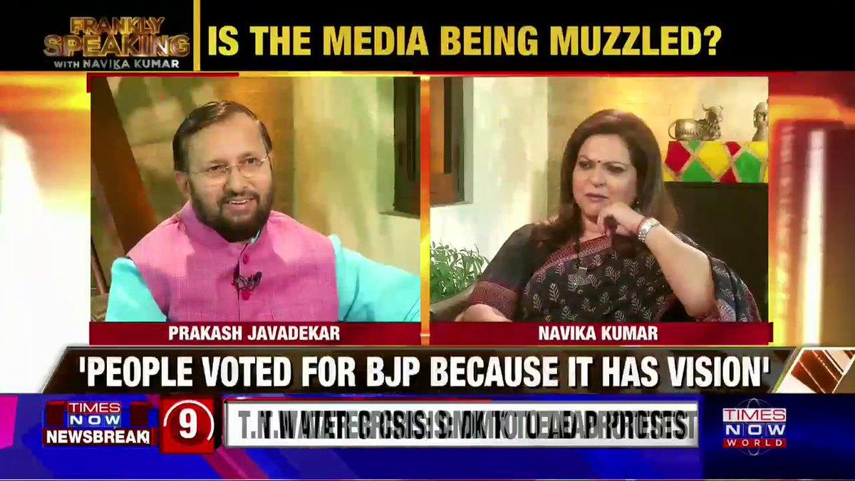 Union I&B Minister @PrakashJavdekar speaks out on 'Khan Market gang', opposition and more. Watch #FranklySpeakingWithJavadekar with @navikakumar.