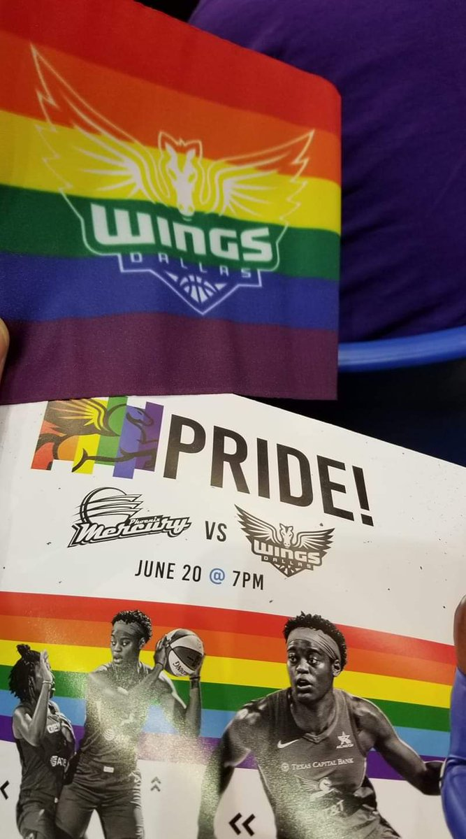 We celebrated Pride Night and a Dallas Wings Win on Thursday night! Kristen Mee & @DallasWings organization- Thanks for allowing us to join you & for your support to the LGBTQ community. @LEAGUEDFW raised over $200 for @LEAGUE_ATT_FDN. #PrideNight #DallasWings #leaguedfw #wnba – at College Park Center, UTA