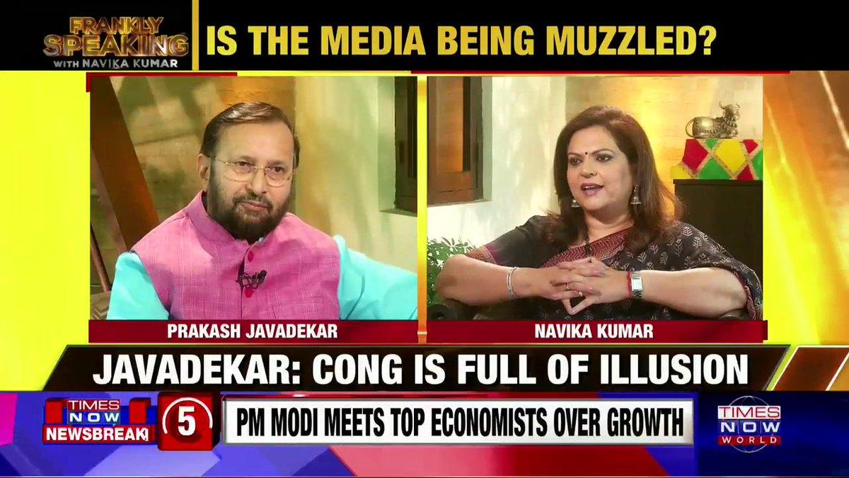 Congress lives in illusion: Union I&B Minister @PrakashJavdekar on #FranklySpeakingWithJavadekar with @navikakumar.