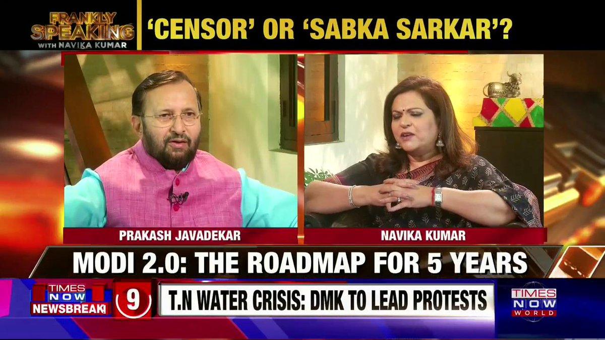 We don't oppose any patriotic expressions: Union I&B Minister @PrakashJavdekar on #FranklySpeakingWithJavadekar with @navikakumar.