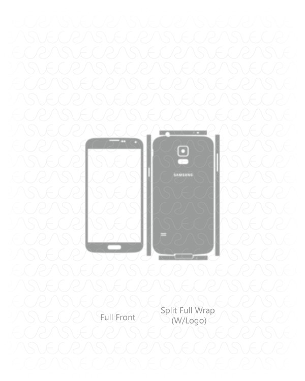 Samsung Galaxy S5 Vinyl Skin Vector Cut File Template Tweet