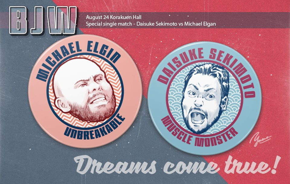 Michael Elgin regresa a Japón, pero con BJW 1