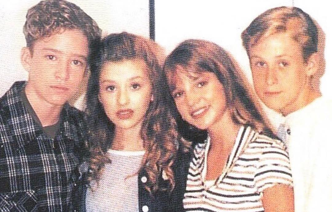Justin Timberlake, Christina Aguilera, Britney Spears and Ryan Gosling. <br>http://pic.twitter.com/ZXMEAGzjuB