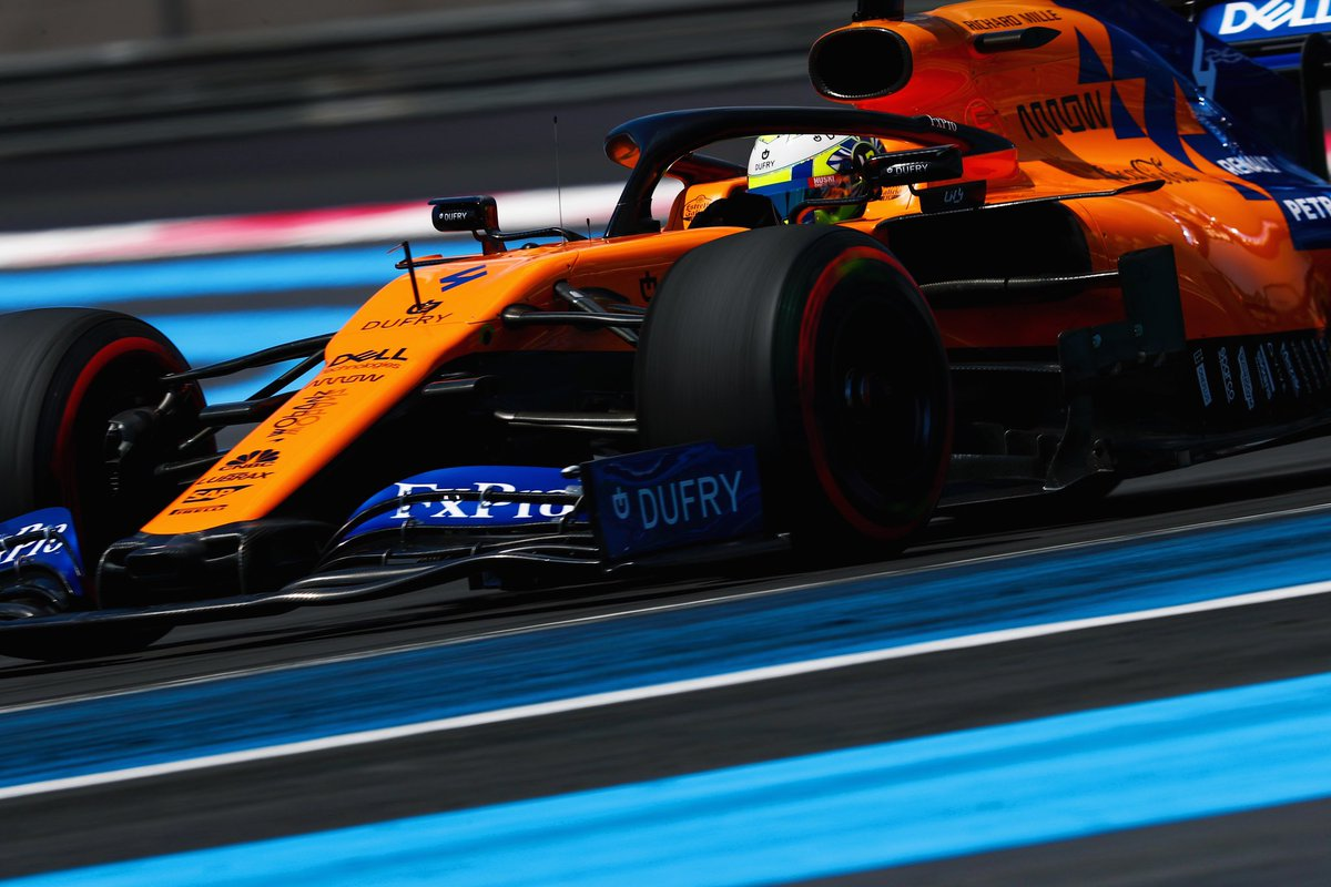 Today's the big one. Locking the 3rd row out with @Carlossainz55. We'll give it a good go and see where we are at the flag 🥛 #FrenchGP