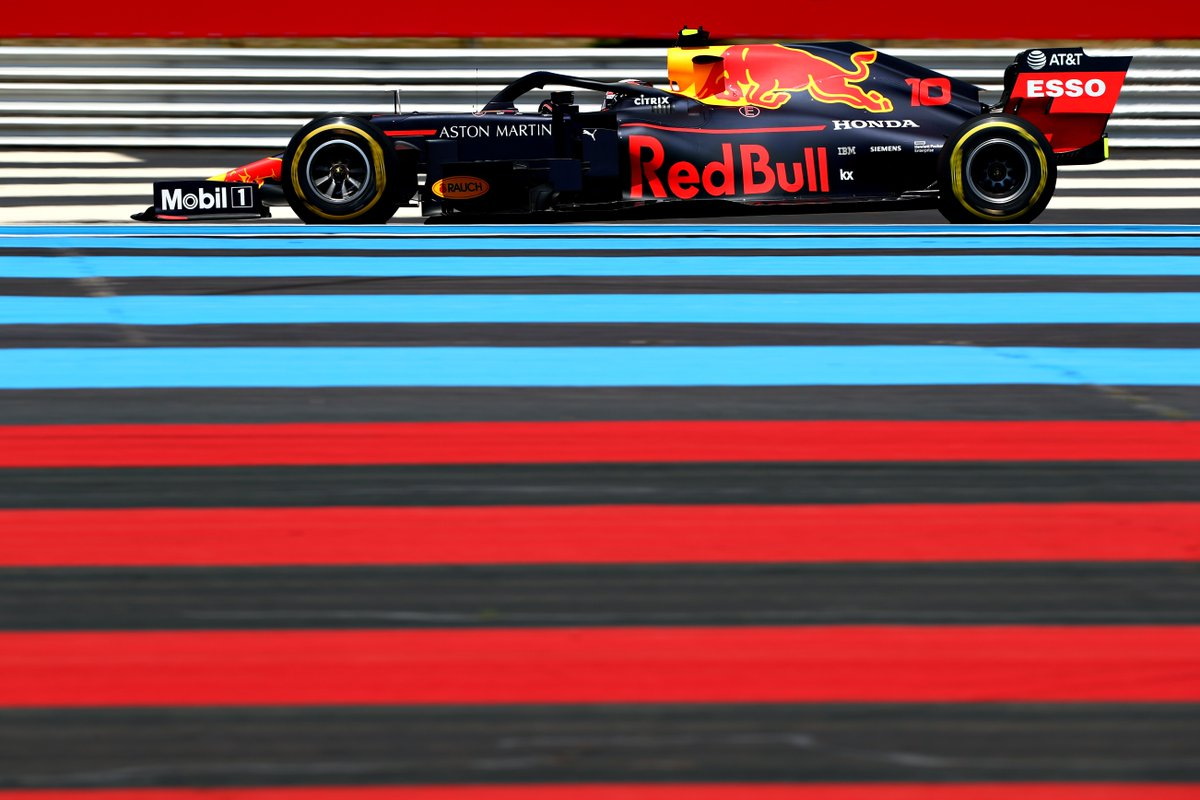 With a solid start for the Bulls, Max stays in P4 and Pierre gains a position to P8.  #AstonMartinRedBullRacing #FrenchGP #F1