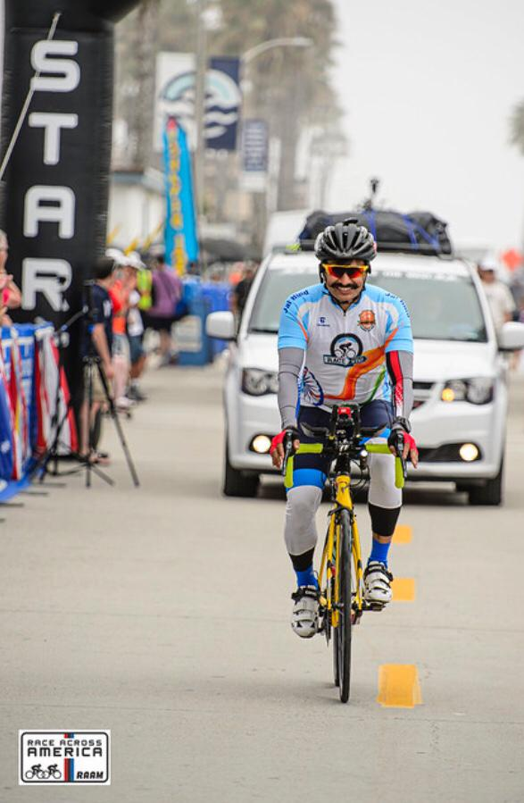 Krishna Prakash, IGP-Admin, Maha became first Indian to finish the Race Across West America (RAW).1st IGP across the globe holding IRONMAN & ULTRAMAN titles made us proud once again by securing 4th position riding 1500 kms in 88 hrs, in world's toughest ultra cycling race.