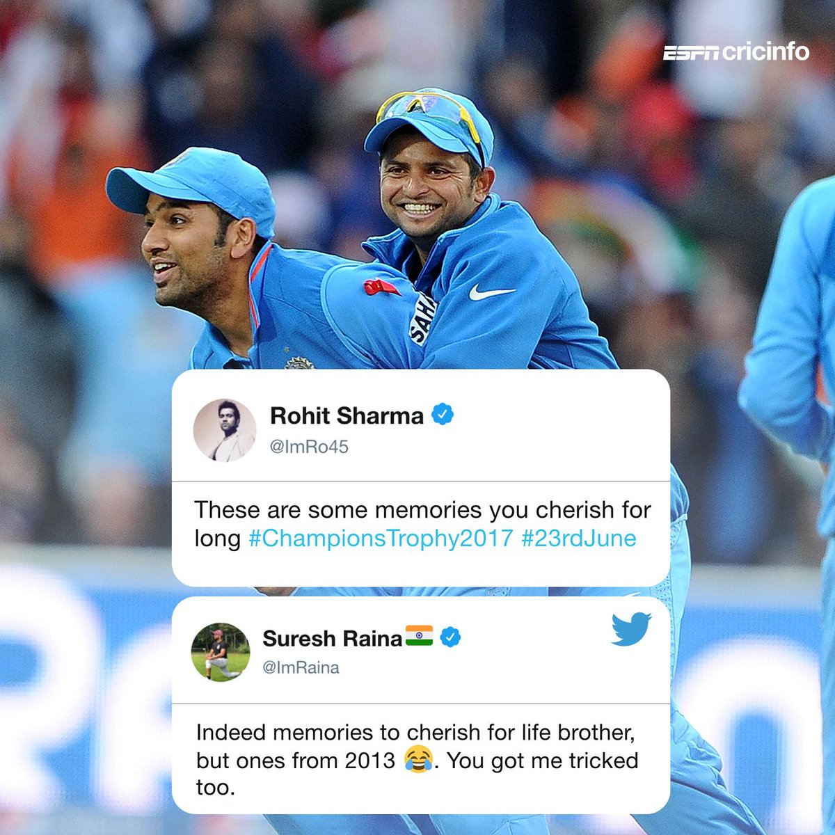 Oops! As quite a few of you have asked, has Rohit Sharma become 🇵🇰 batting coach already? 😂 https://t.co/7rVgomTntU