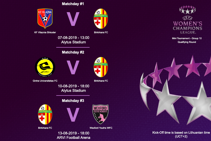 birkirkara f c on twitter fixtures of the uefa women s champions league are now confirmed uwcl twitter