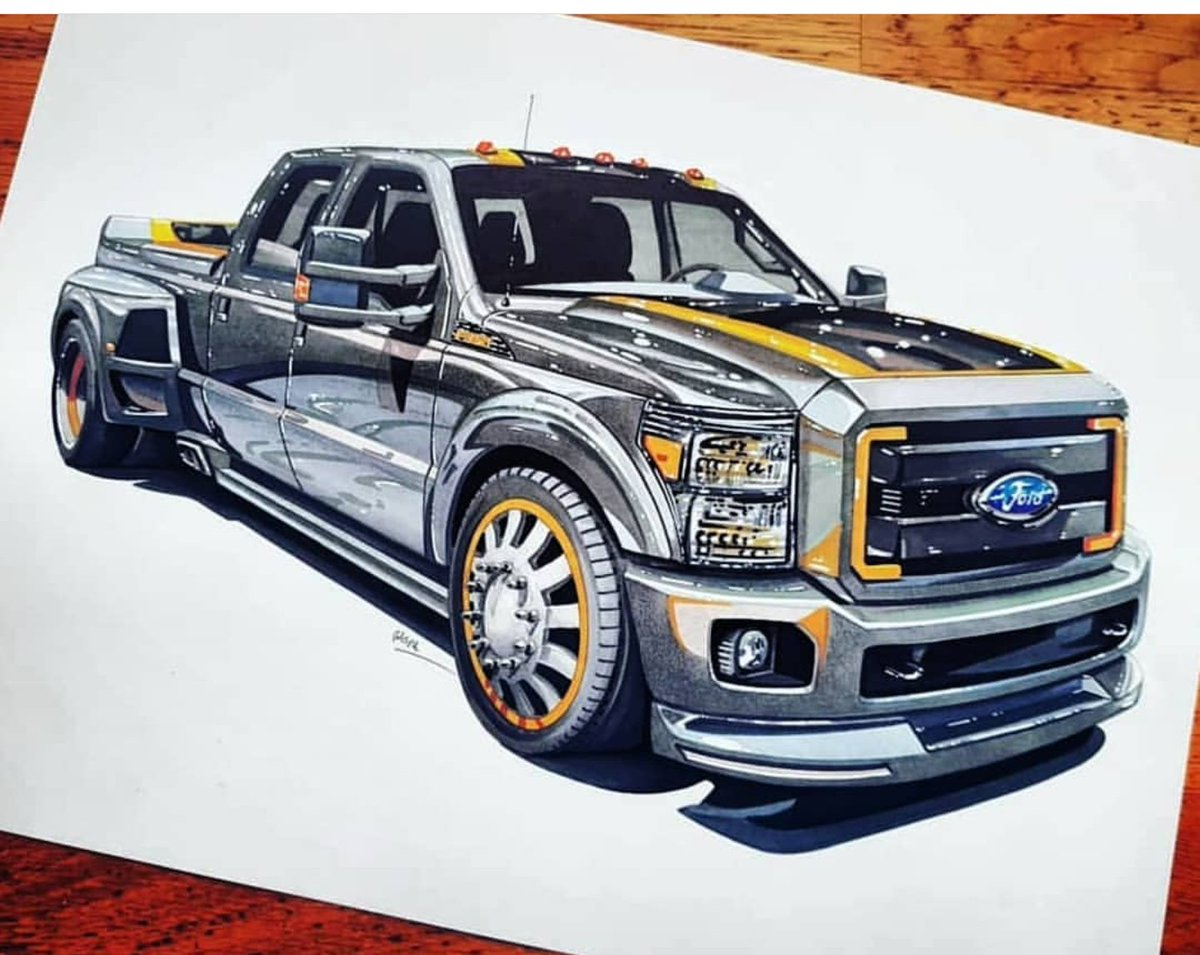 By Andrea Gasparinetti  #drawtodrive #ford #f350 #Truck