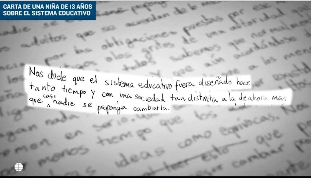Desde @FAPA_rivas estamos de acuerdo con lo que plantea chica 13 años en esta carta enviada a un periódico, respecto a la necesidad de mejorar el sistema educativo, y también reclamamos que más adultos nos movilicemos para lograrlo ¡Bravo! por ella 😃👏👏 https://www.elmundo.es/espana/2019/06/23/5d0e124dfc6c83b31c8b4644.html…