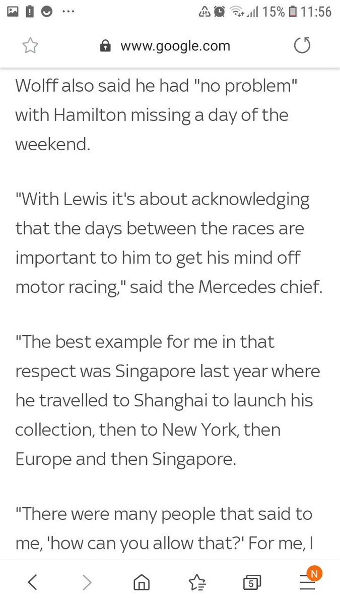 Toto about the critic @LewisHamilton recieved going to the Lagerfeld memorial & fashion show in Thursday