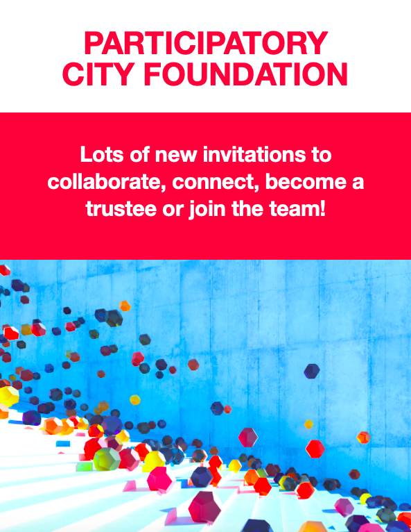 Lots of invitations from Participatory City >Become a trustee, join team,  collaborate on research and field building, come to Co-op Bootcamp (with @CooperativesUK @BusinessLP), join us for Make What You Wear Day & a Celebration Potluck Supper in August! http://www.participatorycity.org/campaigns/view-campaign/6xmhCfbjR9N5VjfmSFAg9Bvic6XJYe2v30CBtyb4BBpRvr8xbrXs-Rh7PivHf8ePGnLhTafUdfG-owv1FmhQ-fLT1o4HAqgr …