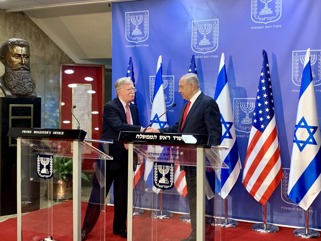 Great meetings today with Israeli PM @Netanyahu and NSA Meir Ben-Shabbat. We re-affirmed our shared priority of confronting Iranian aggression throughout the region by continuing maximum economic pressure and increasing the cost of Iran's malign activity.