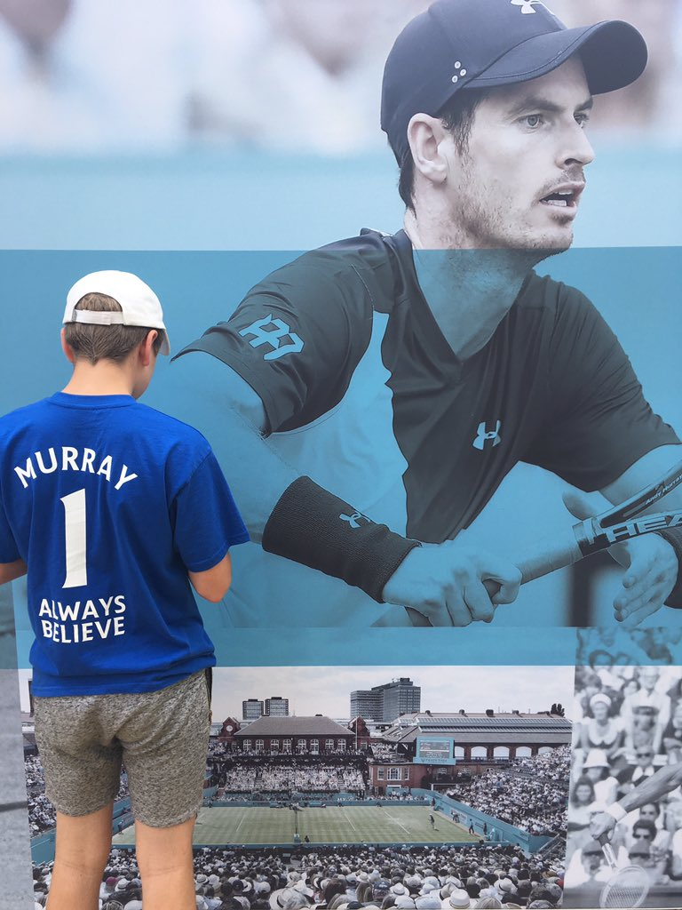 Always our No1! Can't wait to see Andy in the final! Good luck! @andy_murray #AndyMurray #tennis #queensclub <br>http://pic.twitter.com/TAkOtKmE3T