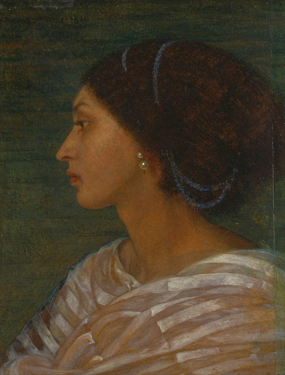 "PreRaphaeliteSociety on Twitter: ""Jamaican-born Fanny Eaton (1835-1924) was  #BornOnThisDay. During the 1860s she modelled for many Pre-Raphaelite  paintings including those by Joanna Boyce Wells, D.G.Rossetti, Simeon  Solomon, Frederic Sandys, Rebecca ..."