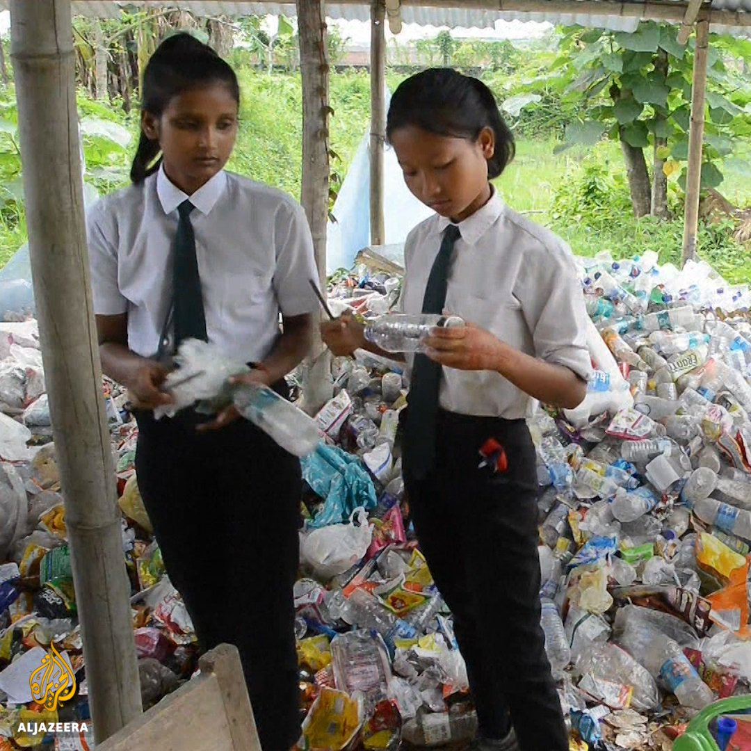 This Indian school lets students pay their tuition in plastic waste - recycling their way to an education.