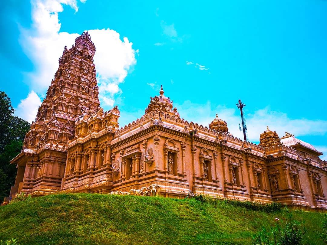 Sri Shakti Temple rises majestically as a unique beacon of Hindu architectural excellence in Malaysia.