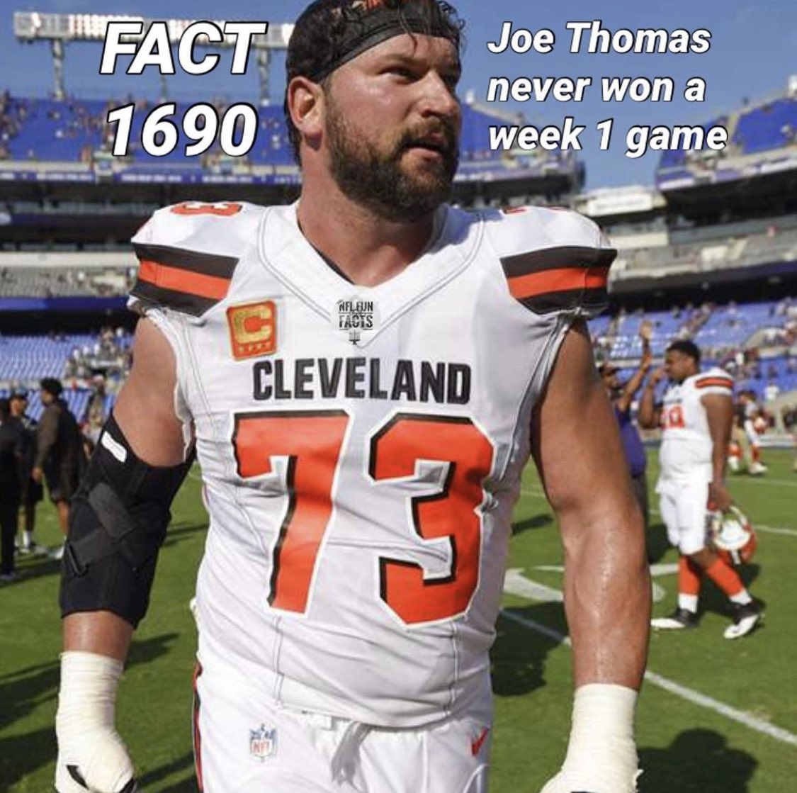 Hey @joethomas73 I'm just fact checking here but if it's true, I'm demanding that #WinWeek1ForJoe starts trending right now. Come on @Browns fans.