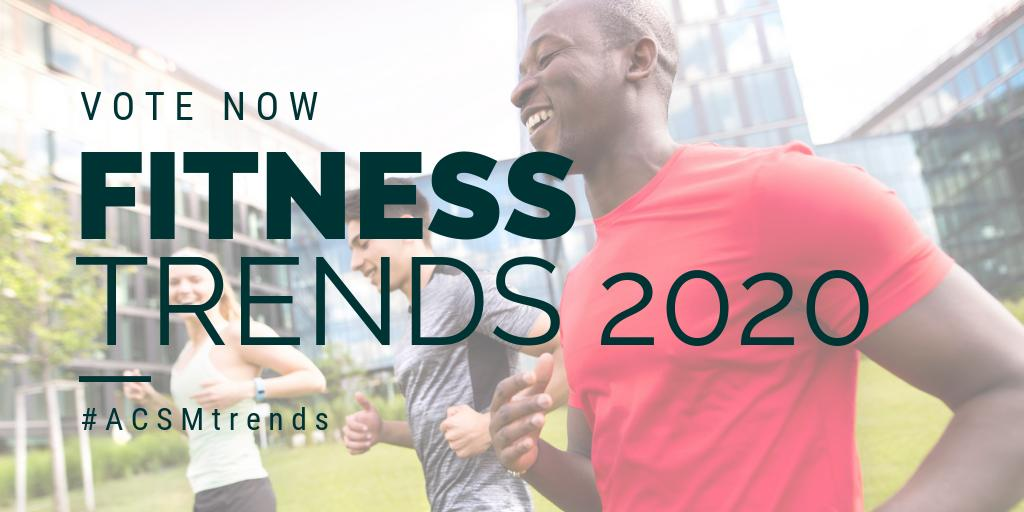 Fitness Trends 2020.American College Of Sports Medicine On Twitter Make Your