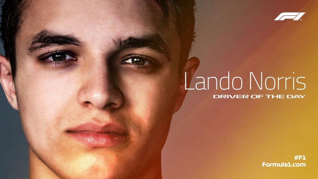 #F1DriverOfTheDay  It's Lando! 👊  #FrenchGP 🇫🇷 #F1
