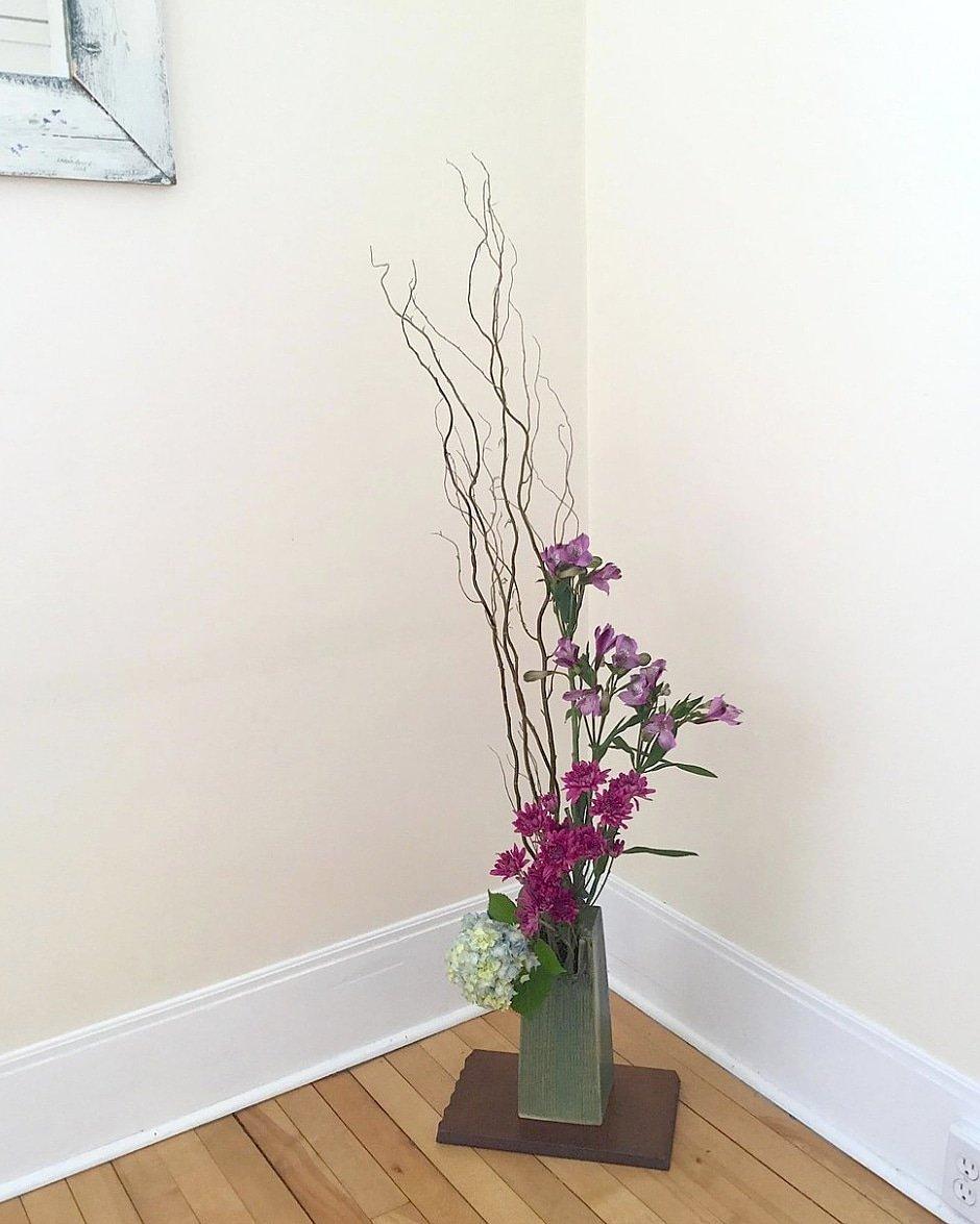 床上がり。Floor Position Arrangement by Jean H. #studentwork #ikebana #sogetsu #Halifax #Quinpool 🇨🇦